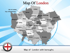 Short  London PowerPoint map