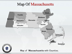 Extended  OF Massachusetts PowerPoint map