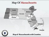Massachusetts Maps PowerPoint Templates
