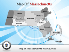 Massachusetts PowerPoint map