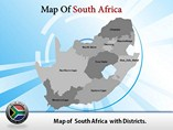 South Africa Map Powerpoint Templates