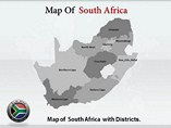 South Africa  Colourfull Map  Powerpoint Template
