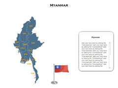 Myanmar XML Map PowerPoint map
