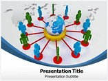 Global Network powerpoint template