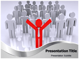 Stand Out From The Crowd powerpoint template