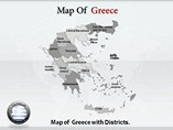 Greece Map Powerpoint Templates
