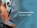 Doctor Writing Powerpoint Template