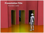 Finding The Right Way powerpoint template