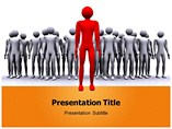 Leader Icon Template PowerPoint