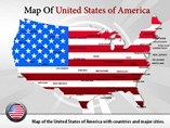 Powerpoint Templates - USA Maps PPT