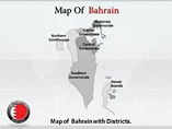 Bahrain Map Powerpoint Templates