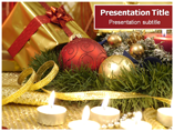 Free PPT Templates Download Christmas decorations