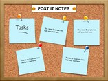 Post It Notes Charts Powerpoint Templates