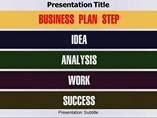 Business Plan Step powerpoint template