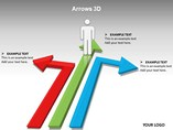 3d Arrows Charts PowerPoint Template