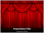 Free PPT Templates Download Stage Curtain