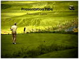Mountain Golf powerpoint template