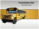 Free PPT Templates Download School Bus