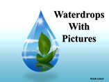 Water drops With Pictures Chart PowerPoint Template