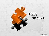 Puzzle 3D Chart PowerPoint Template