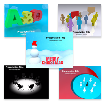 3D Animated Template Bundle powerpoint templates