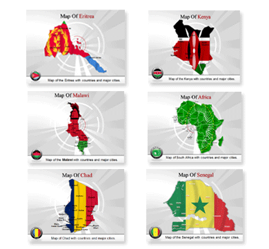 Bundle Of Africa Maps powerpoint templates