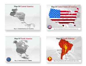Bundle Of America Maps powerpoint templates