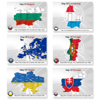 Bundle Of Europe Maps powerpoint templates