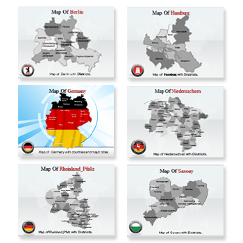 Bundle Of Germany Maps powerpoint templates