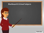 Blackboard School Subjects PowerPoint Template