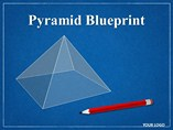 Pyramid Blueprint Chart PowerPoint Template