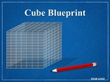 Cube Blueprint Chart PowerPoint Template