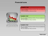 Financial Icons Chart Diagrams powerpoint templates