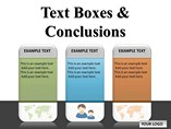 Text Boxes and Conclusions Chart PowerPoint Template