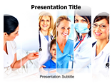 Female Physician powerpoint template