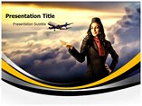 Travel Trailer  PowerPoint Template