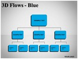 3D Flows Blue Diagrams powerpoint templates