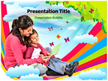 Rainbow Curve PowerPoint Template