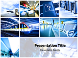 High Tech in Transport  PowerPoint Template