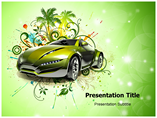 Green Car PowerPoint Template