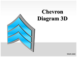 Chevron Diagram 3D PowerPoint Template