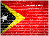 Grunge Flag of Timor and Leste PowerPoint Template