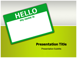 Saying Hello PowerPoint Theme
