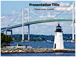 Newport Bridge PowerPoint Template