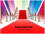 Stairway and Red PowerPoint Template