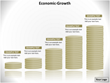 Economic Growth Rate PowerPoint Background