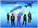 Leadership People & 3D Figures powerpoint templates
