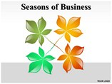 Seasons of Business People & 3D Figures powerpoint templates