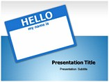 Hello Business powerpoint templates