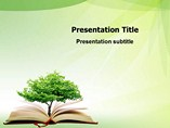 education powerpoint templates - Open Book